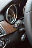 Steering wheel lever details Stock Photo
