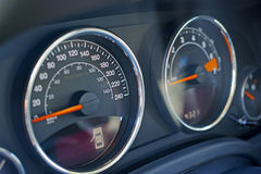 Car dashboard and speedometer Stock Photography