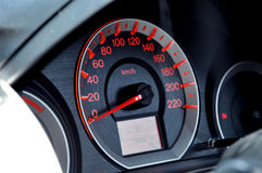 Car dashboard with speedometer or tachometer Stock Photos