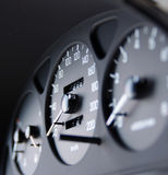 Car dashboard. Speedometer, tachometer, gauges royalty free stock photography