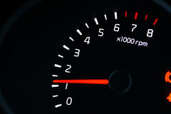 Car dashboard  tachometer Royalty Free Stock Photos