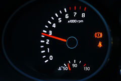 Car dashboard with tachometer Stock Photography