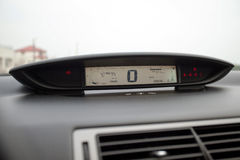 Car dashboard with tachometers Royalty Free Stock Photo