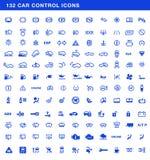Car dashboards symbols vector set. Car dashboards symbols full vector set, control icons Stock Photos