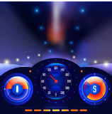 Car dashboards vector Royalty Free Stock Images