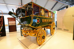 Car de cheval de vintage - musée de transport de Londres Image stock