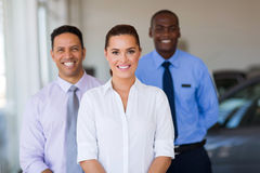 car dealer colleagues Stock Image