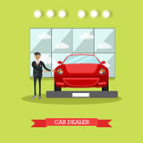 Car dealer concept vector illustration in flat style Royalty Free Stock Photos