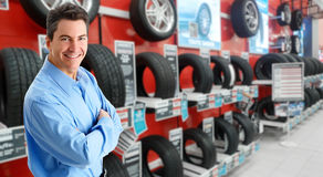 Car dealer man Stock Photography