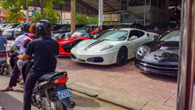 Car dealership cambodia. Phnom penh city cambodia kingdom of cambodia Stock Images
