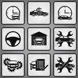 Car dealership 9 icons set Stock Photography