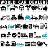 Car dealership icons set. On a white background with a shadow Stock Photo