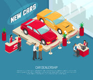 Car Dealership Leasing Composition Stock Photo
