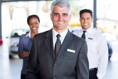 Car dealership principal staff Royalty Free Stock Photos