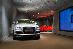Car in dealership for sale Royalty Free Stock Photos