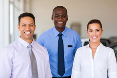 Car dealership staff stock photo