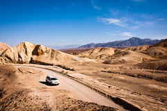 Car in Death Valley. National Park Stock Photography