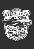 Car of death. Vector illustration ideal for printing on apparel clothes Stock Photography