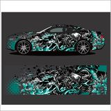 Car decal vector, Dragon tattoos style abstract