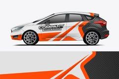 Car decal wrap design vector.