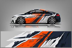 Free Car Decal Wrap Design Vector. Graphic Abstract Stripe Racing Background Kit Designs For Adventure And Li Royalty Free Stock Photos - 144344348