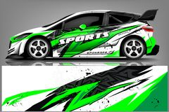Free Car Decal Wrap Design Vector. Graphic Abstract Stripe Racing Background Kit Designs For Vehicle, Race Car, Rally, Adventure And Li Royalty Free Stock Photo - 143004415