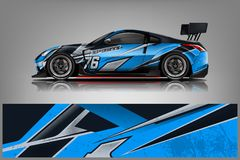 Free Car Decal Wrap Design Vector. Graphic Abstract Stripe Racing Background Kit Designs For Vehicle, Race Car, Rally, Adventure And Li Royalty Free Stock Image - 144342516