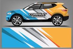 Car decal wrap design. vector design. - Vector vector illustration