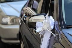 Car decoration for a wedding Royalty Free Stock Photos