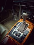 Automatic gearbox. Car deluxe automatic gearbox stock photography