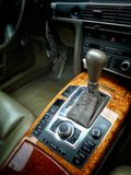Automatic gearbox. Car deluxe automatic gearbox royalty free stock images