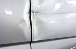 Car with dented front door Stock Photography