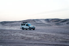 Car in desert, Hurghada, Egypt Royalty Free Stock Image