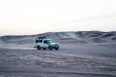 Car in desert, Hurghada, Egypt royalty free stock image
