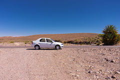 Car in the desert Royalty Free Stock Photography