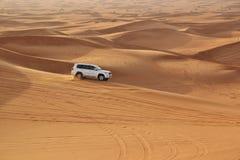 Car in desert Royalty Free Stock Photo