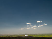 Car in the Desert. At the Volcano Cerro Negro, Nicaragua Royalty Free Stock Photo