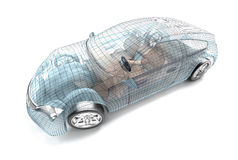 Car design, wire model Royalty Free Stock Photos