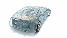 Car design, wire model. stock video footage