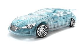 Car design, wire model. Royalty Free Stock Photos