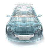 Car design, wire model. Stock Photo