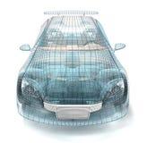 Car design, wire model. Stock Photo