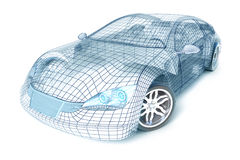 Free Car Design, Wire Model. My Own Design. Royalty Free Stock Photo - 15380435