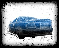 Car is designed. Vector Royalty Free Stock Photo