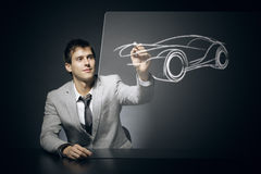Car designer Royalty Free Stock Photography