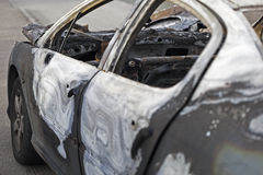 Car destroyed by fire. Stock Photography