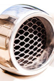 Car Detail of air intakes. Design of a sports car with aluminum parts and designed by plane details stock photography