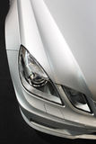 Car detail, lights, silver metallic Royalty Free Stock Photography