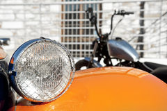 Car detail and motorcycle Stock Images