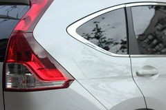 Car detail with red taillights Royalty Free Stock Photography